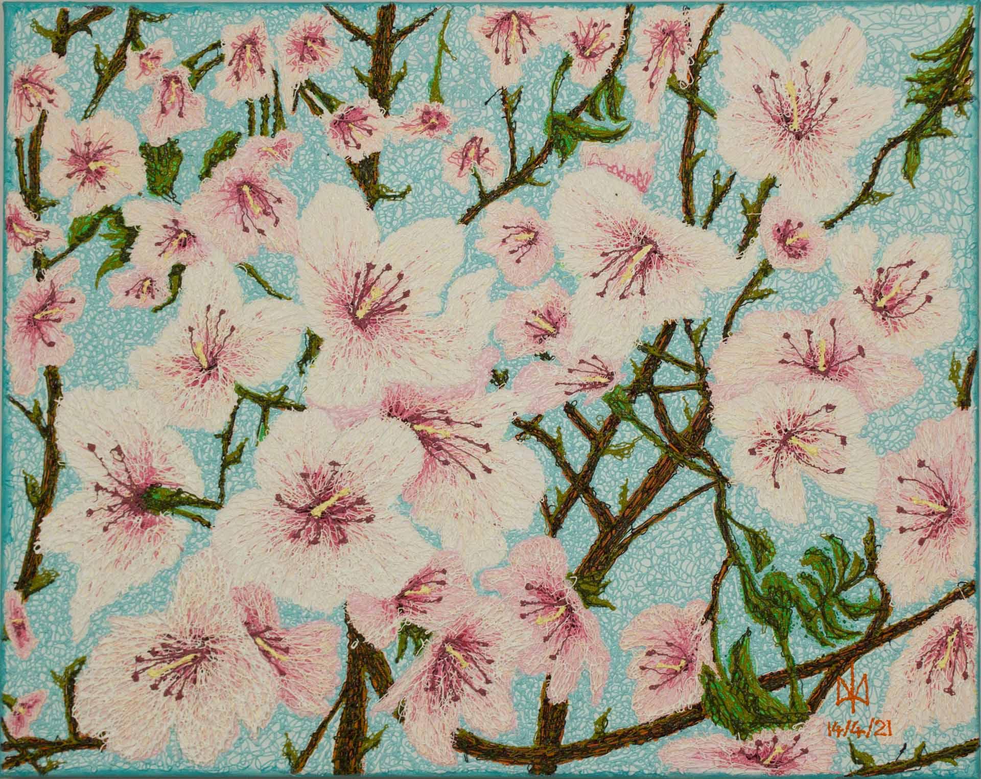 Apple Blossoms - Mykola Babiy - Plyontanism - acrylic - IRELAND - DUBLIN