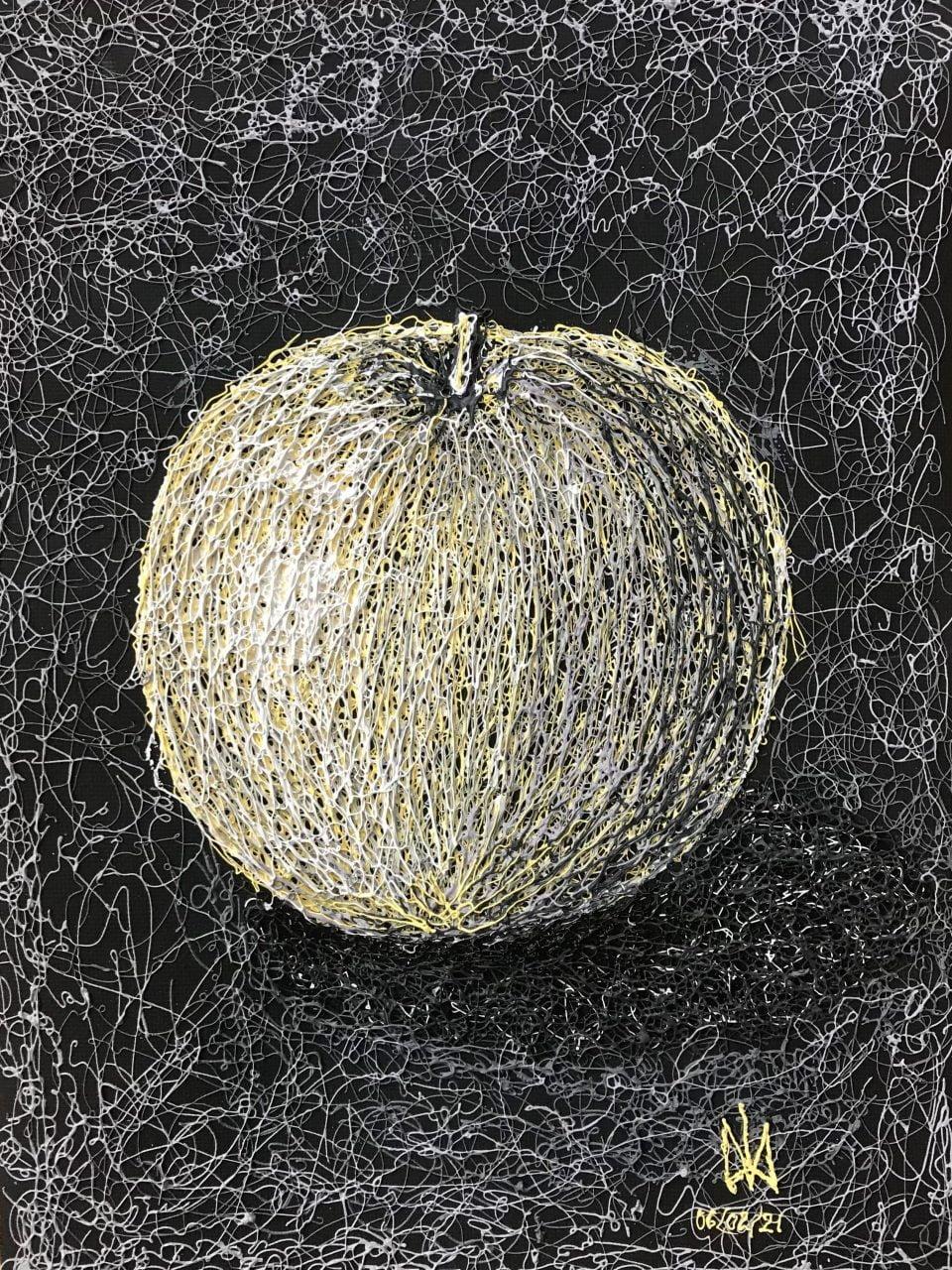 Apple. Plyontanism. Canvas.