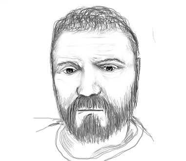 Mykola Babiy. Self-portrait. Pencil. Practice.