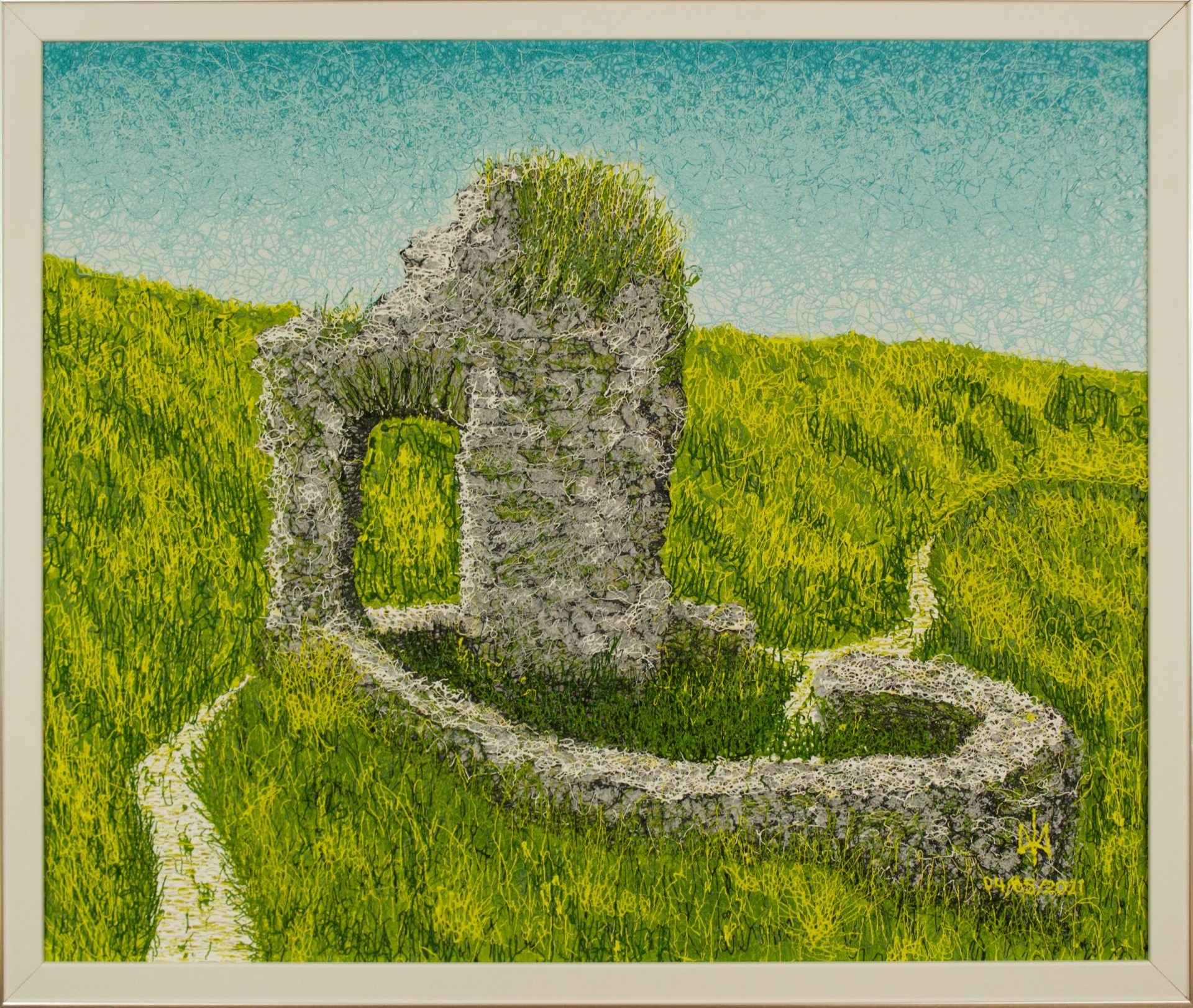 St Declan's Well Ardmore. Acrylic. Plyontanism. Canvas board