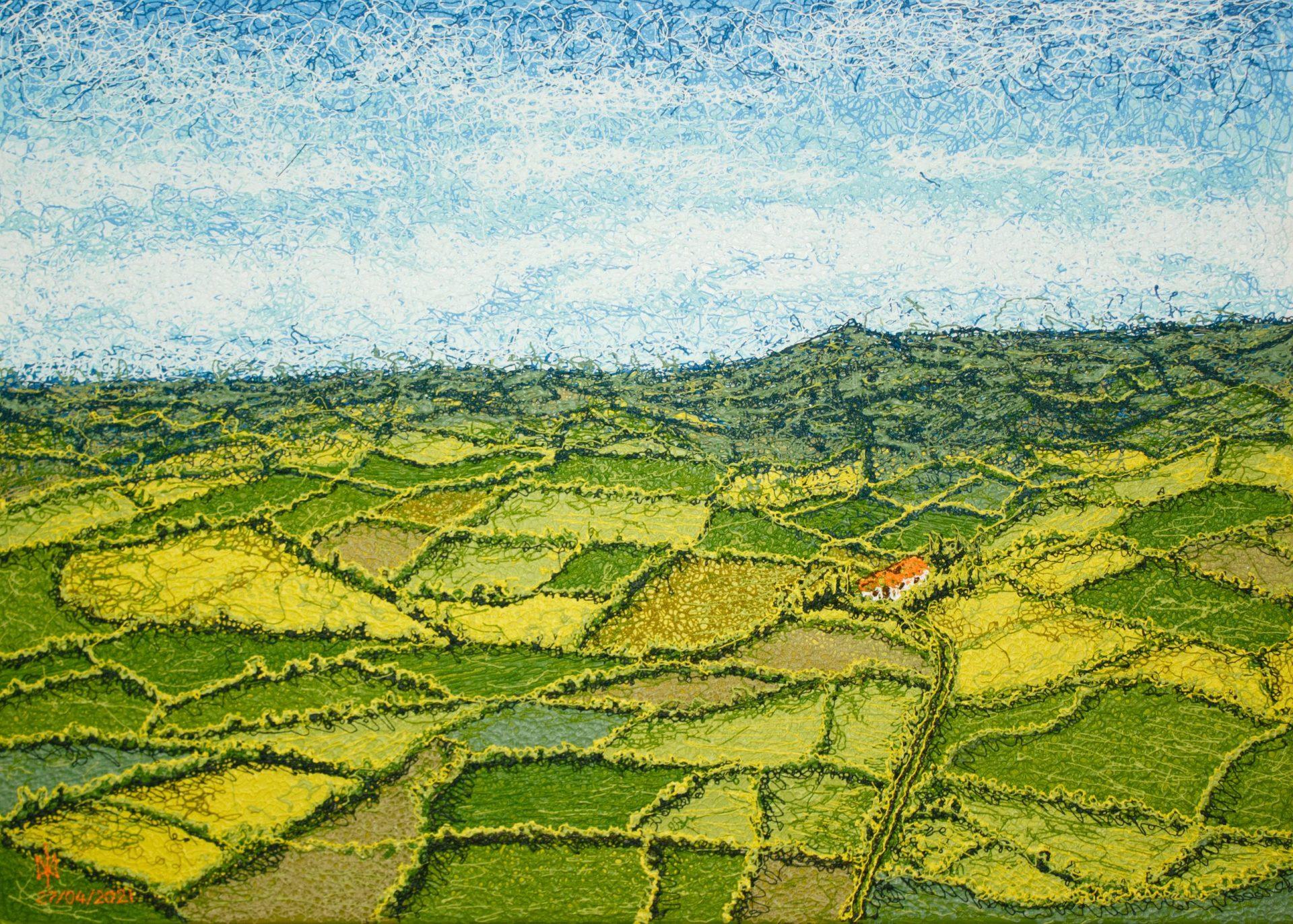 Irish fields. Acrylic. Plyontanism. Canvas