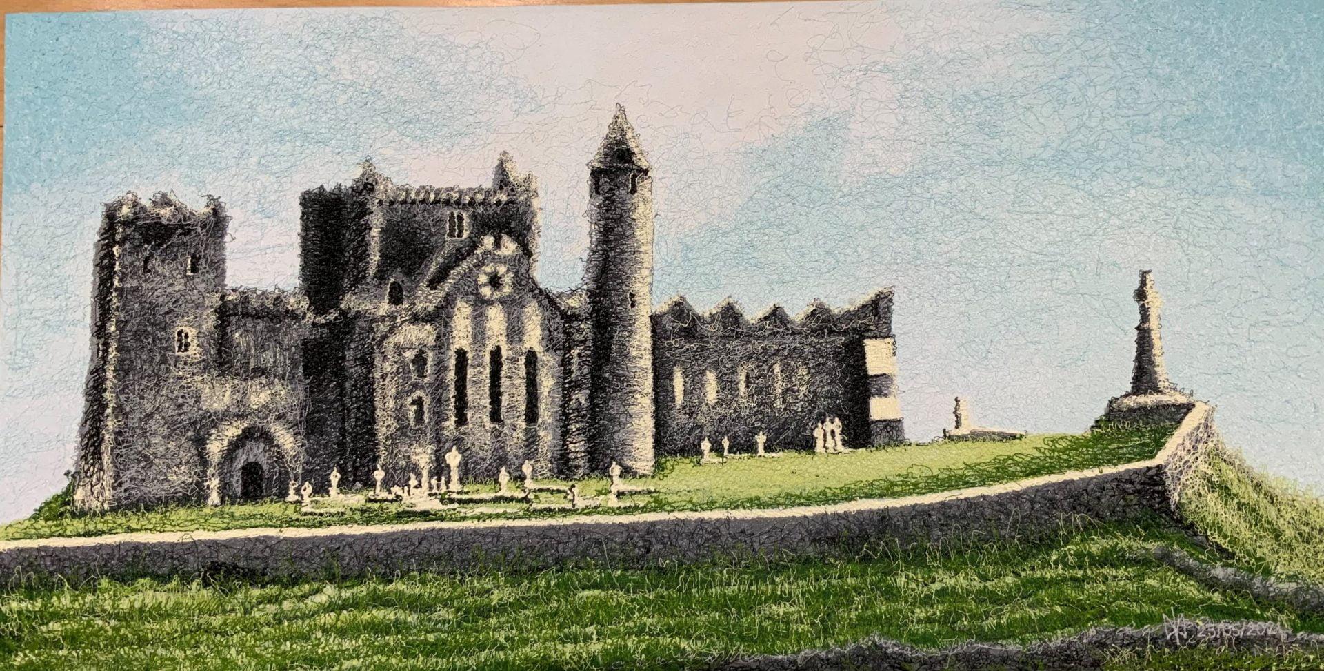 Rock of Cashel. Acrylic. Plyontanism. Canvas