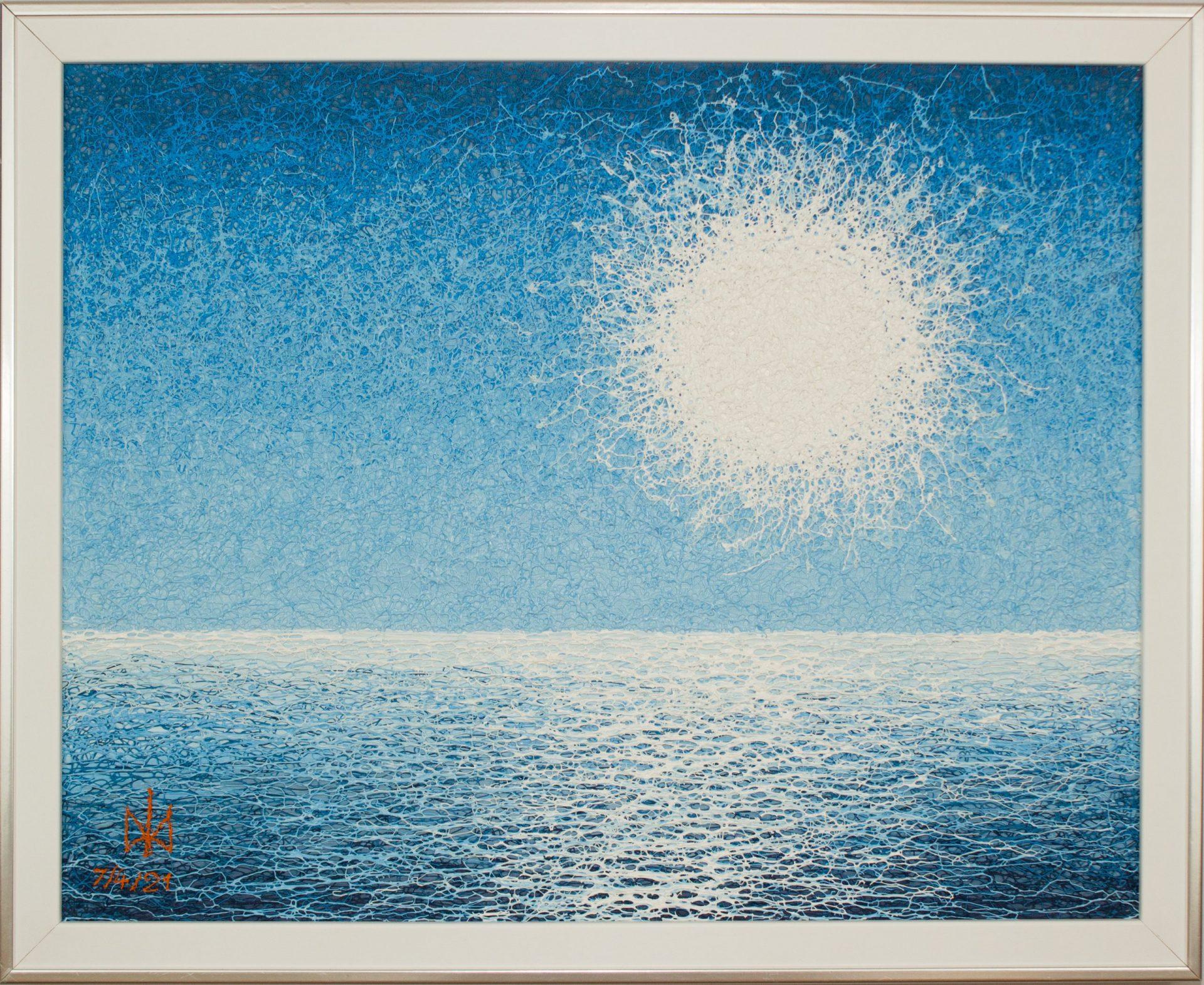 Sea sun. Plyontanism. Acrylic. Canvas board.